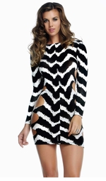 Sunday Zig Zag Print Dress