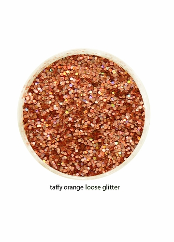 Taffy Orange Color of Luxe Glitter Powder for Eyeliner and Eye Makeup