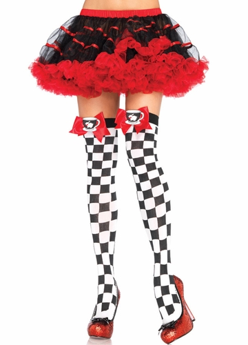 Tea Party Checker Stockings