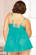 Teal Appeal Babydoll and Thong