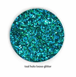 Teal Holo Blue Color of Luxe Glitter Powder for Eyeliner & Eye Makeup