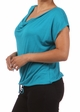Teal Plus Size Short Sleeve Cowl Neck Top inset 1