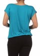Teal Plus Size Short Sleeve Cowl Neck Top inset 3