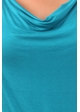 Teal Plus Size Short Sleeve Cowl Neck Top inset 4
