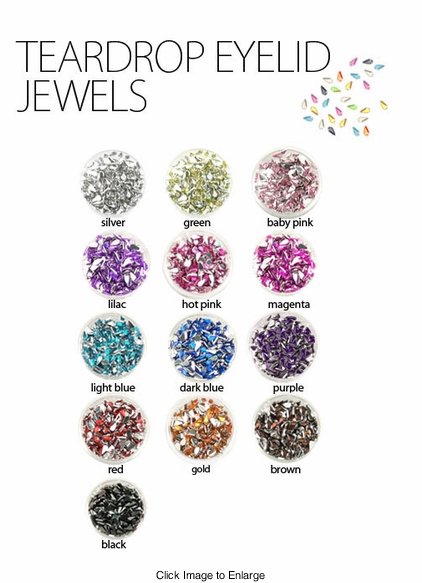 Teardrop Eyelid and Face Jewels