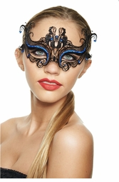 Floral Scroll Laser Cut Masquerade Mask