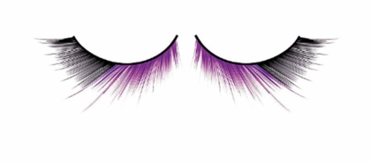 Textured Purple and Black Lashes
