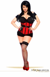 Top Drawer Red Steel Boned Underbust Corset