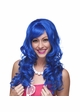 Tousled Bouncy Curl Wig in Dark Blue inset 1