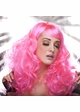 Tousled Bouncy Curl Wig in Hot Pink inset 1