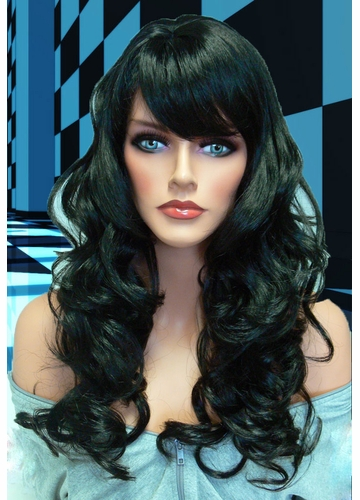 Tousled Bouncy Curl Wig Crystal in Jet Black