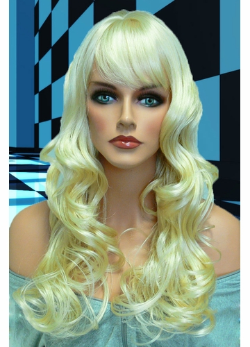 Tousled Bouncy Curl Wig Crystal in Pale Blonde