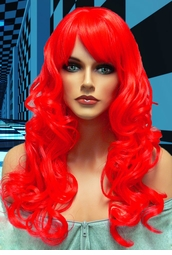 Tousled Bouncy Curl Wig in Red