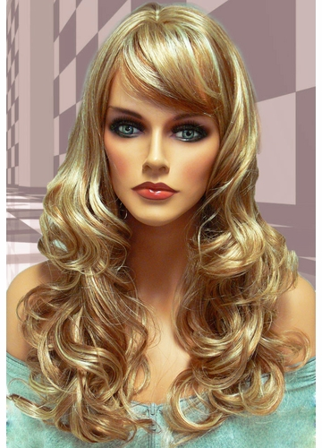 Tousled Bouncy Curl Wig Crystal in Strawberry Blonde Mix