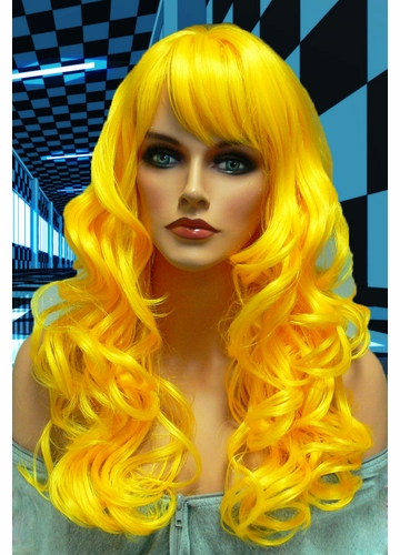 Tousled Bouncy Curl Wig in Yellow