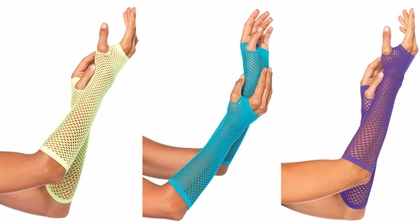 Triangle Net Fishnet Arm Warmers