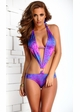Tropical Fuchsia Monokini with Pucker Back inset 1