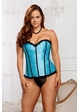 Turqoise Brocade Corset and G-string inset 2