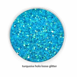 Turquoise Holo Blue Color Luxe Glitter Powder- Eyeliner & Eye Makeup