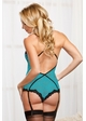 Turquoise Lace Bodysuit inset 1
