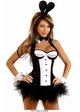 Tuxedo Corset Bunny Costume with Bunny Ears and Accessories inset 1