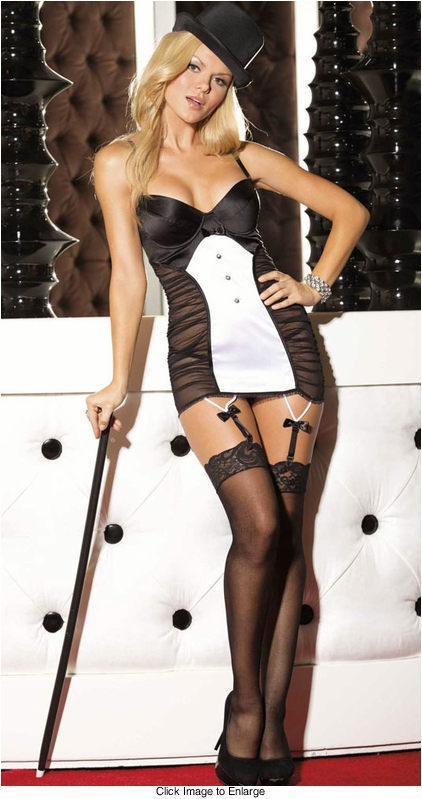 Tuxedo Tailored Garter Dress