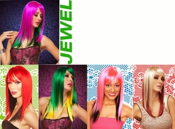 Jewel- Two Color Straight Wig with Bangs
