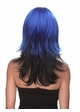 Two Color Textured Wig in Blue and Night Black inset 1