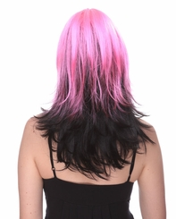 Two Color Wig in Pink and Black