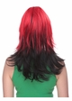 Two Color Wig in Red and Night Black inset 1