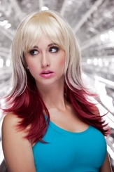 Two Color Wig in Vanilla and Maroon