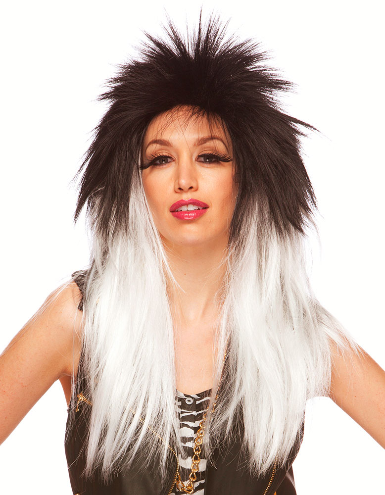 Two Tone Bitchin' Rocker Wig