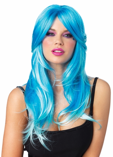 Two Tone Blue Wig