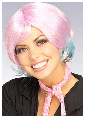 Two Tone Lavender/Light Blue Wig
