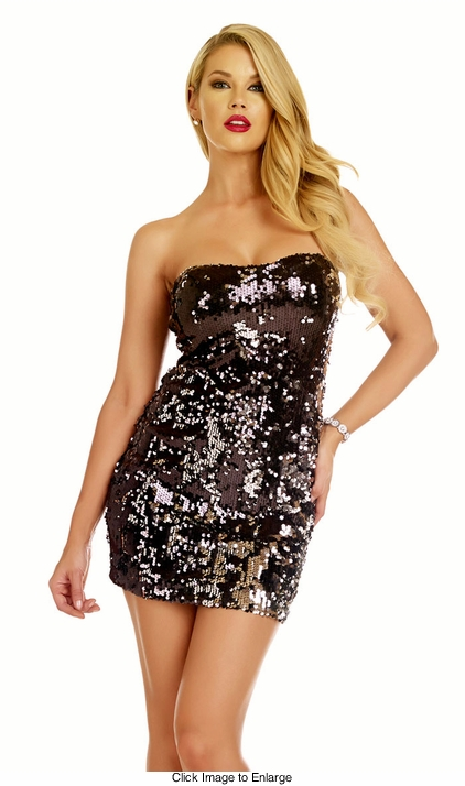 Two Way Black and Silver Sequin Dress