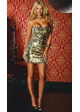 Two Way Gold and Silver Sequin Dress inset 1