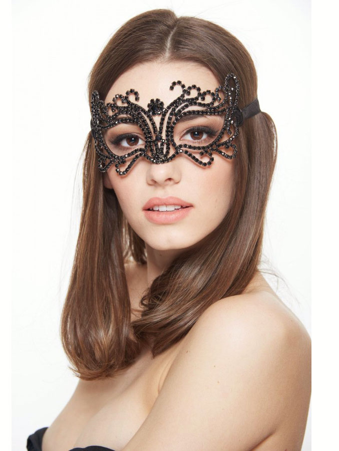 Ultrabright Crystal Masquerade Mask