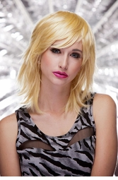 Vamp Shoulder Length Wig in Apricot Blonde