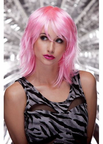 Vamp Shoulder Length Wig in Cotton Candy