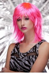 Vamp Shoulder Length Wig in Pink Explosion