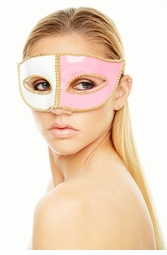 Venetian Mask with Gold Trim