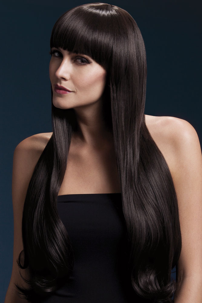 Very Long Bella Wig with Natural Wave in Brown