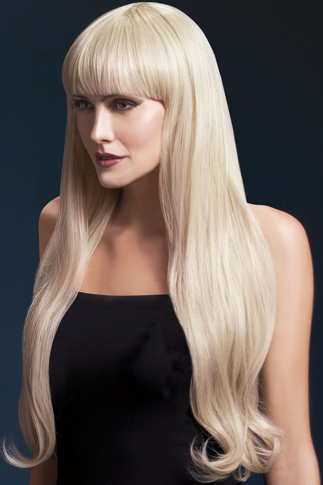 Very Long Bella Wig with Natural Wave in Icy Blonde