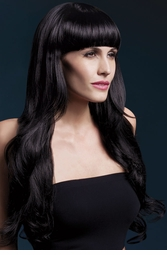 Very Long Wig Yasmin with Loose Curl in Black