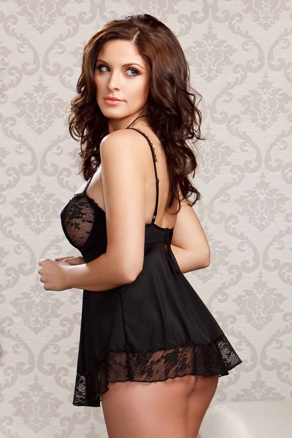 Victoria Lace Babydoll and G-string