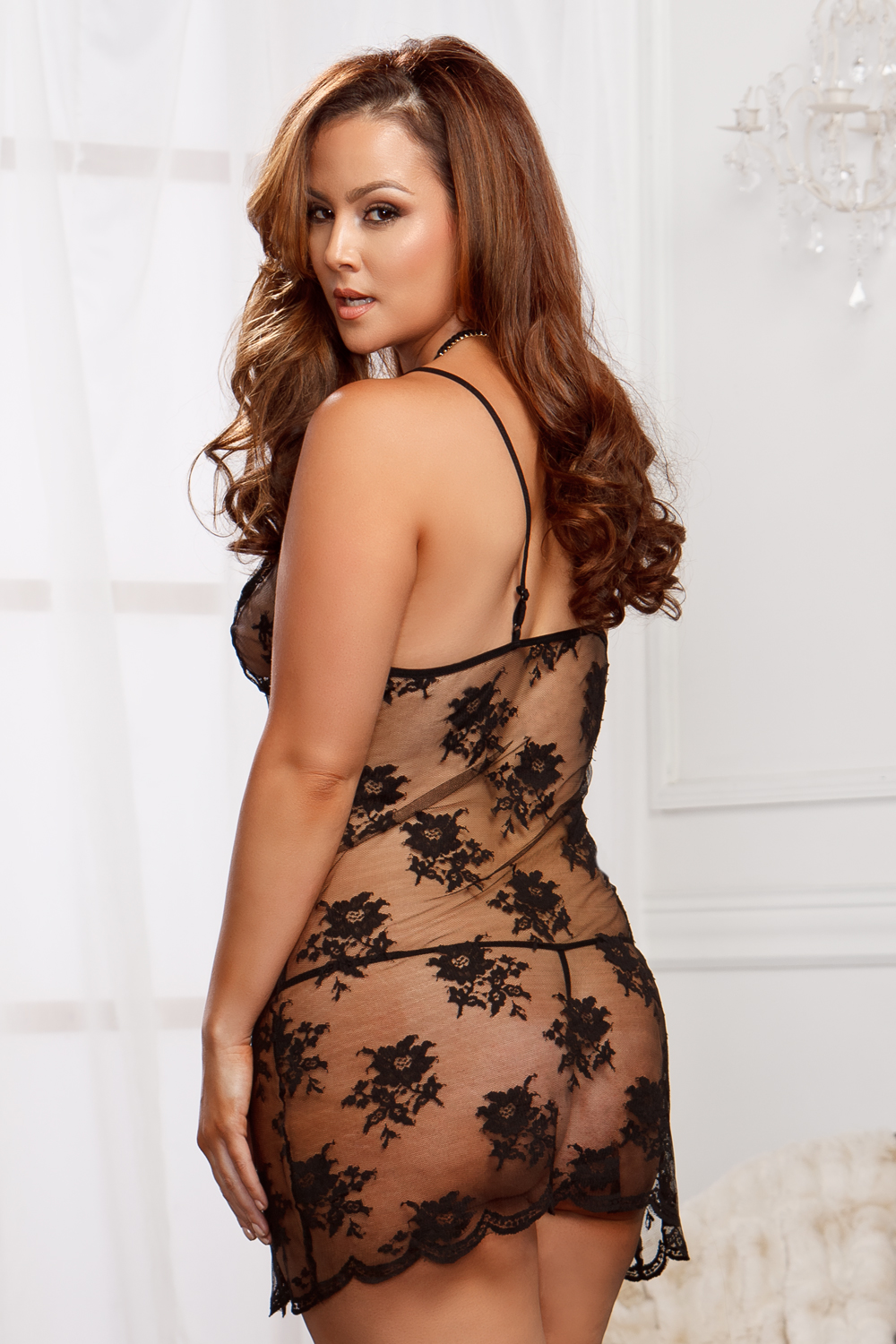 Victoria Lace Mini Dress and G-string