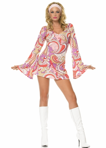 Vintage Paisley Go-go Costume Dress
