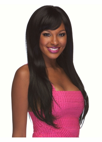 Vixen Long and Straight Human Hair Blend Wig