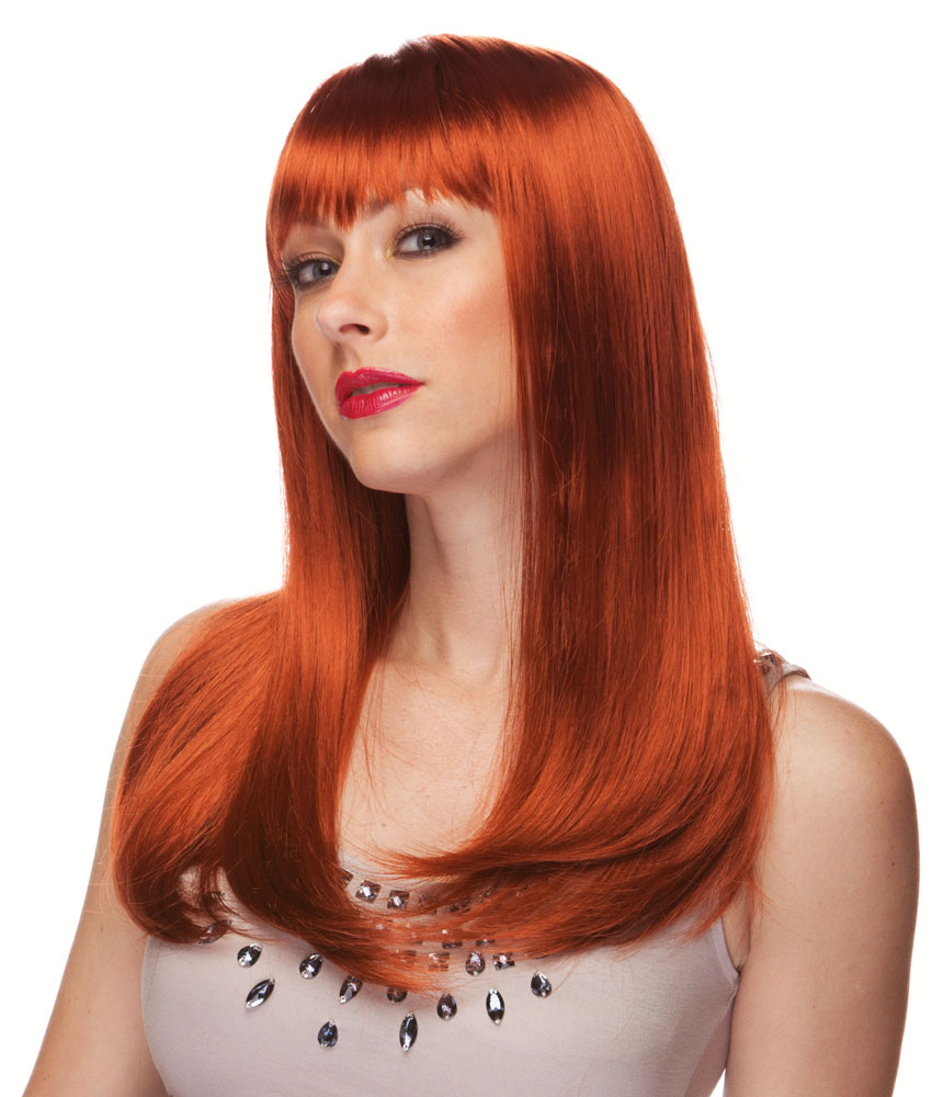 Wig Long Straight Red Auburn 9