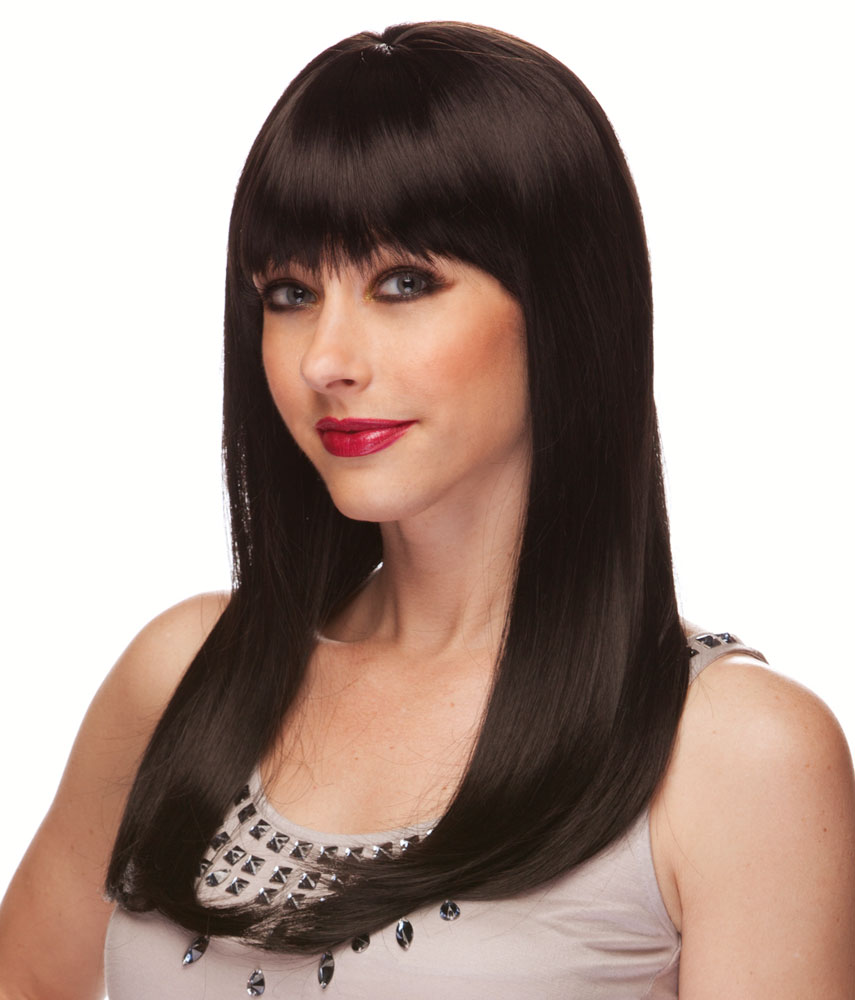 Long black hair wig